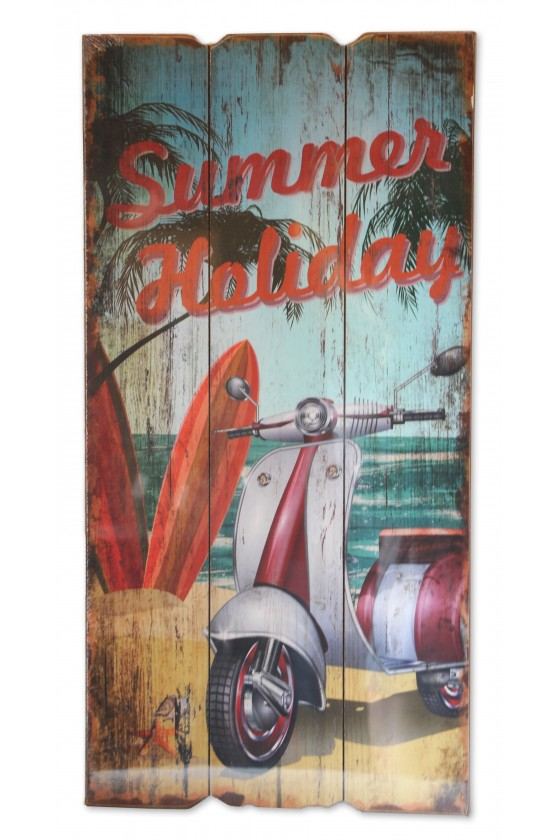 "Schild, ""Summer Holyday"",..."