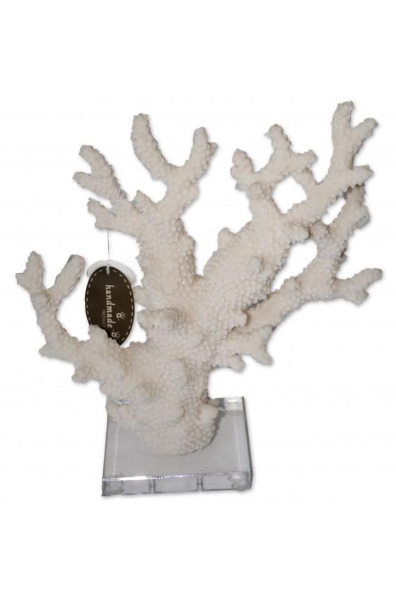 Deko-Objekt, Koralle auf Plexiglasfuß, Imitation