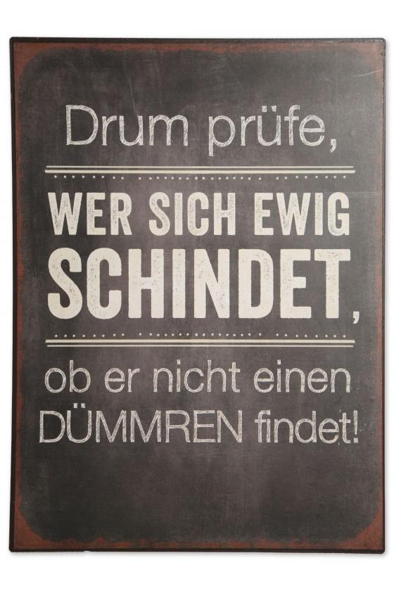 Schild, Metall/Papier,...