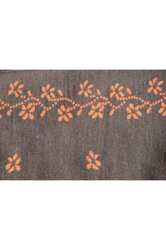 Dreieckstuch, Art en Laine, orange/braun, Streublumen