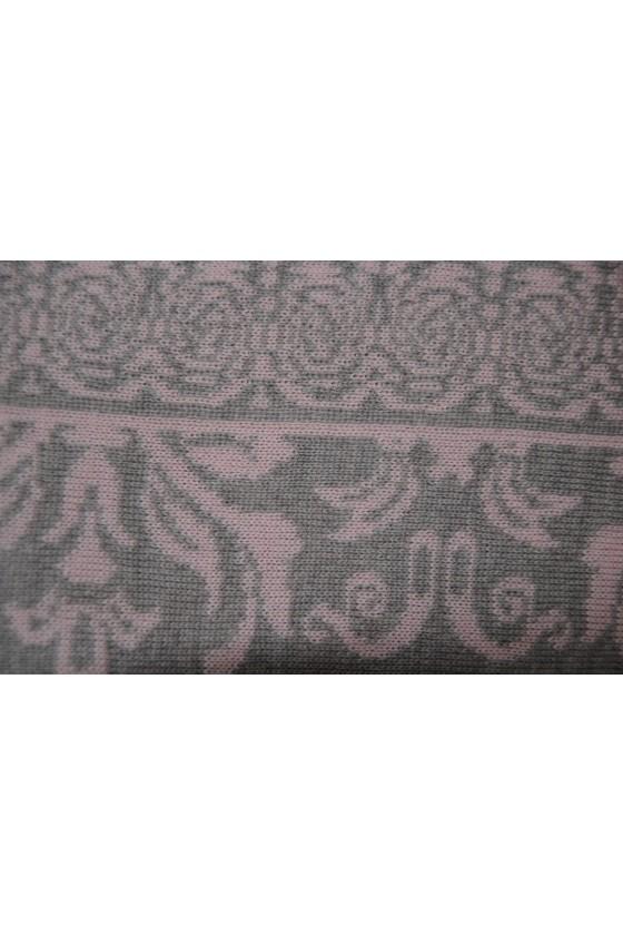 Dreieckstuch, Art en Laine, rosa/silber, Anna