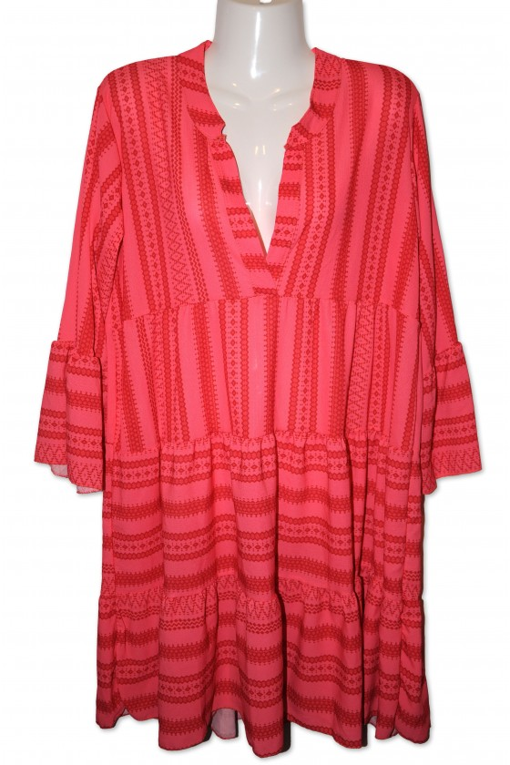 Kleid, Kurzkleid, coralle/rot