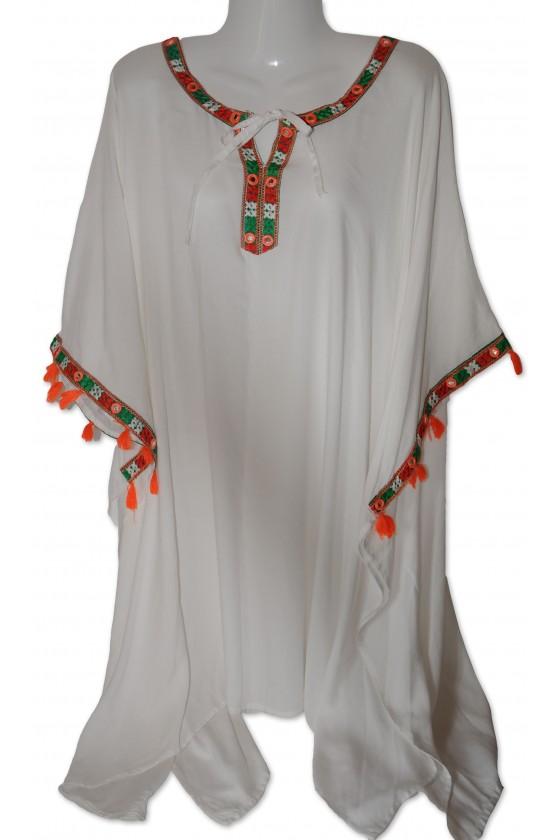Tunika, weiß/multicolor,...