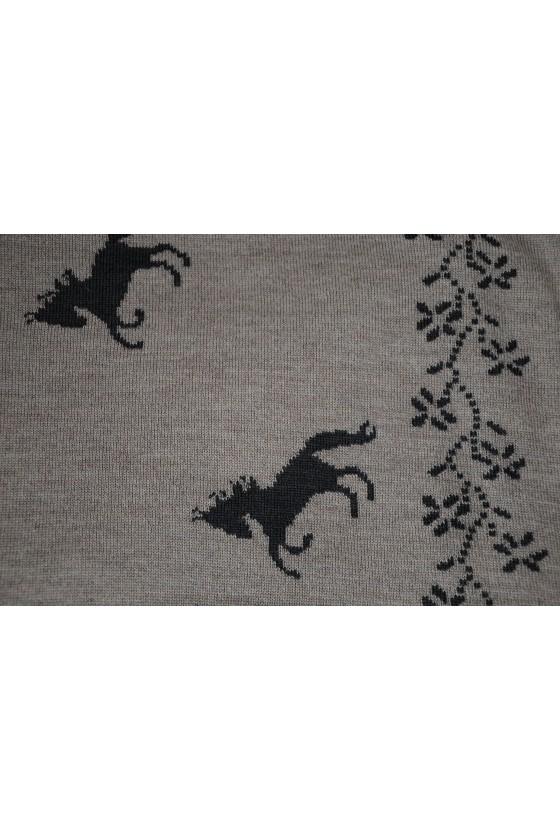 Dreieckstuch, Art en Laine, Pferde, dunkelantra/dunkelbeige