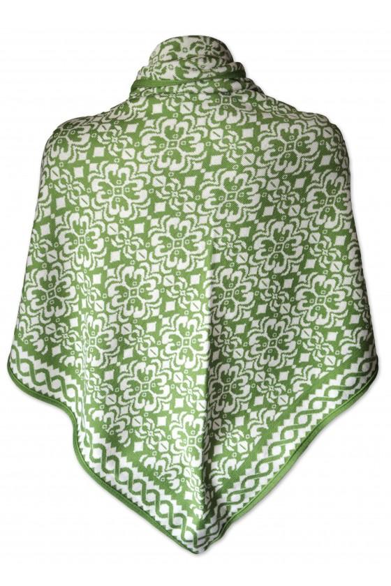 Dreieckstuch, Art en Laine, grün/weiß