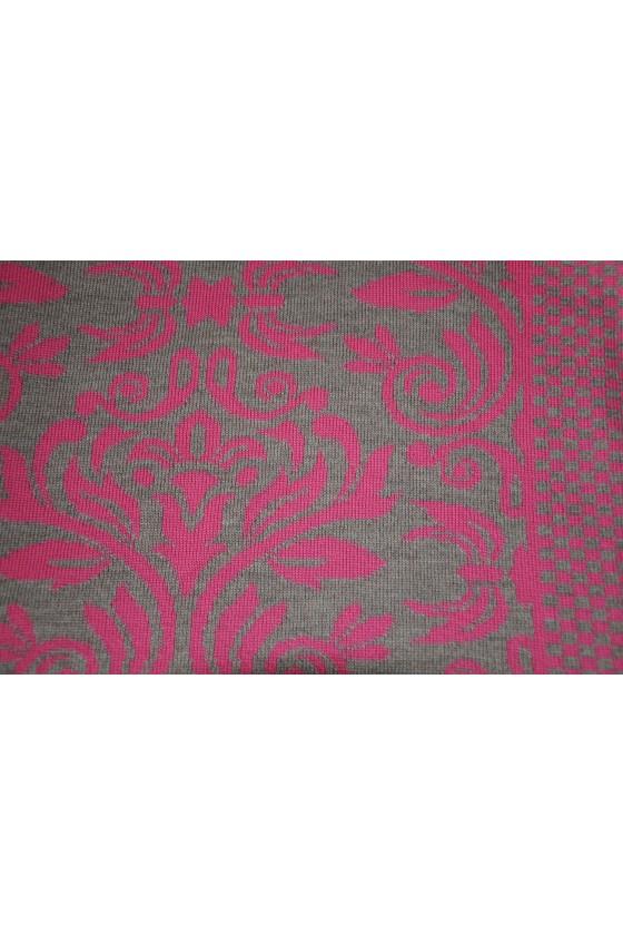 Dreieckstuch, Art en Laine, Versailles, pink/dunkelbeige