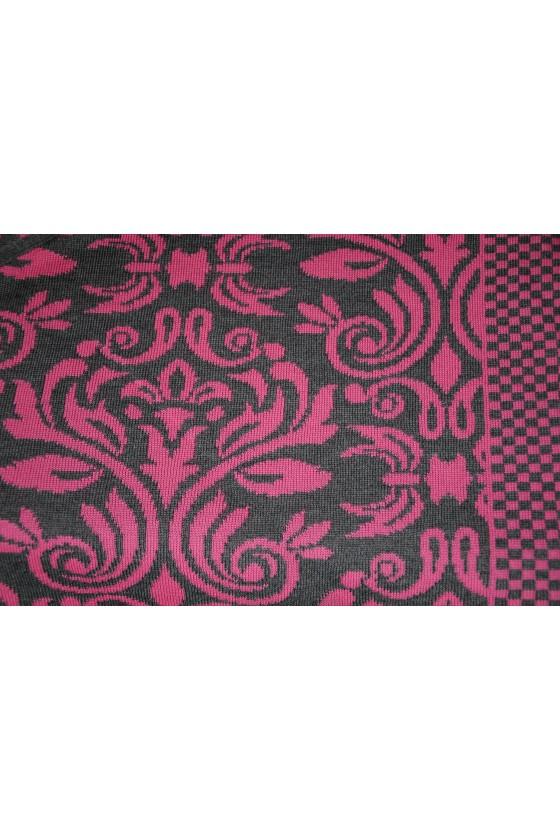 Dreieckstuch, Art en Laine, Versailles, pink/asphalt