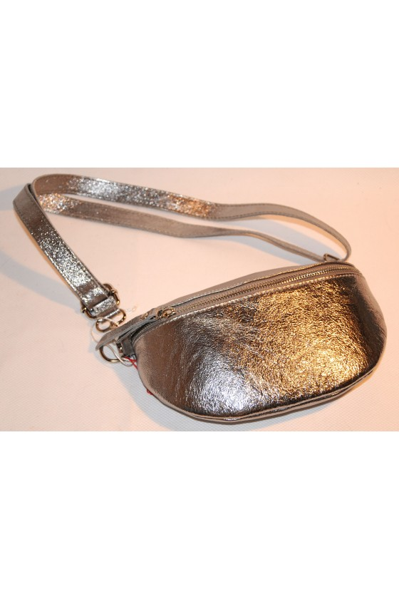 Cross-Body-Bag, silber,...