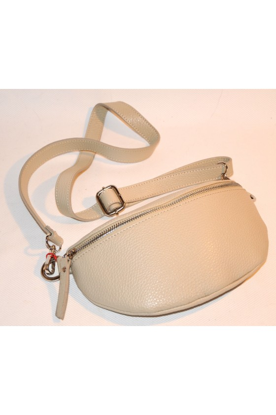Cross-Body-Bag, beige, echt Leder
