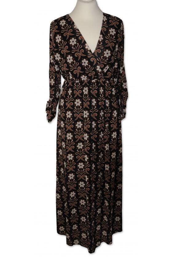 Kleid, lang, dunkelbraun...