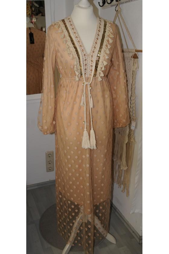 Kleid, lang, sandfarbig,...