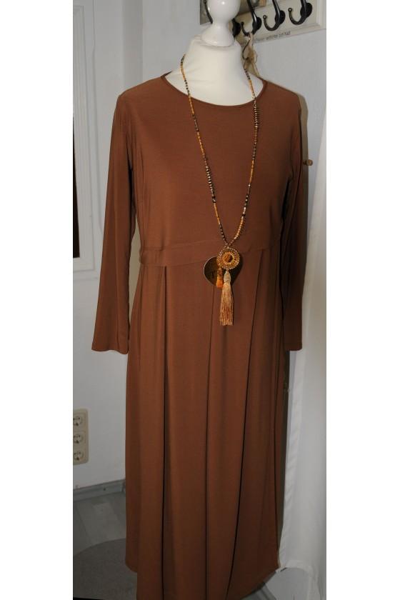 Kleid, halblang, cognac,...