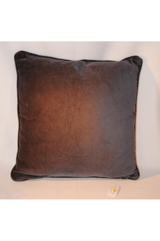 Kissen, Samtkissen, dunkelgrau, uni, 45 x 45 cm