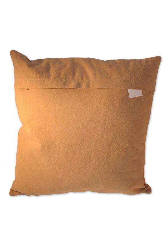 Kissen, Hirschmotiv, seitlich blickend, braun, Rückseite uni, Oberstoff 100% Baumwolle