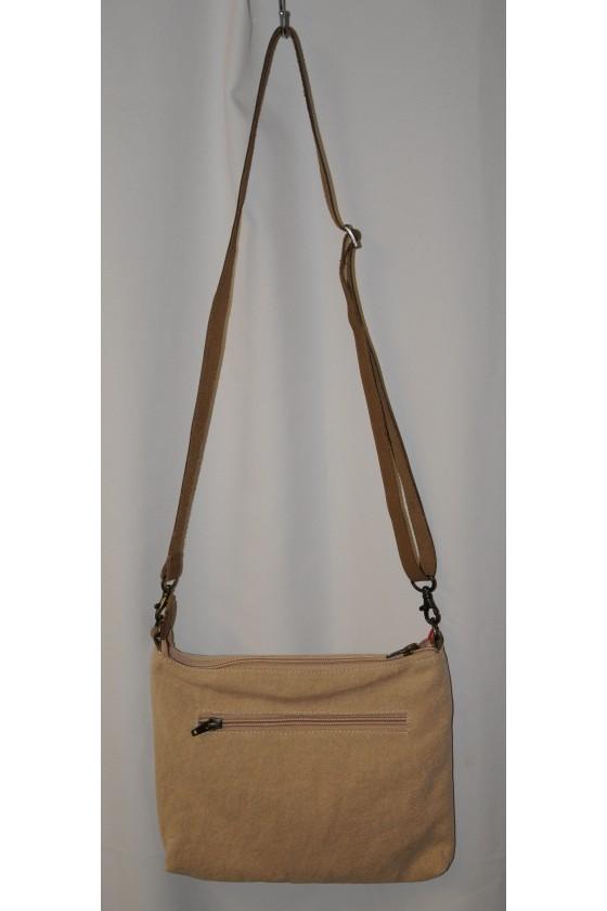 Tasche, Umhängetasche, Hirschmotiv vorne, Rückseite uni