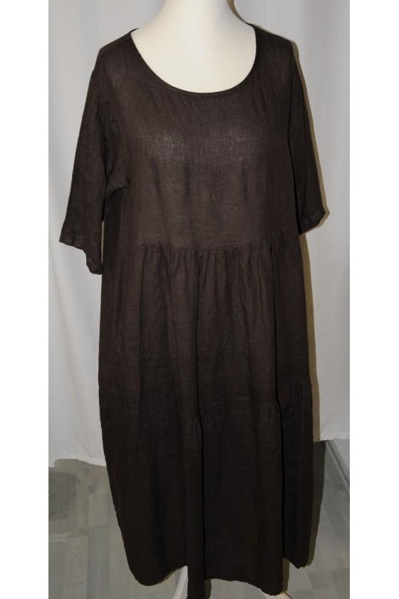 Kleid, lang, dunkelbraun,...