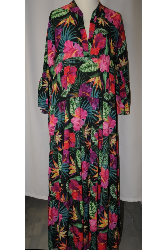 Kleid, lang, Tropical,...
