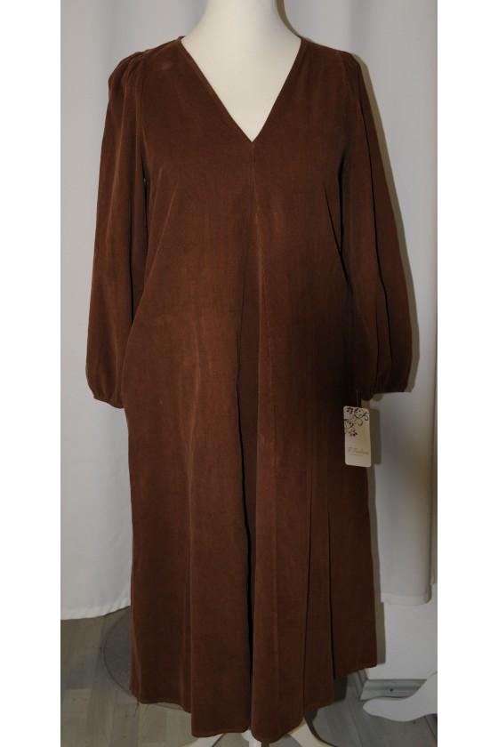 Kleid, lang, braun,...