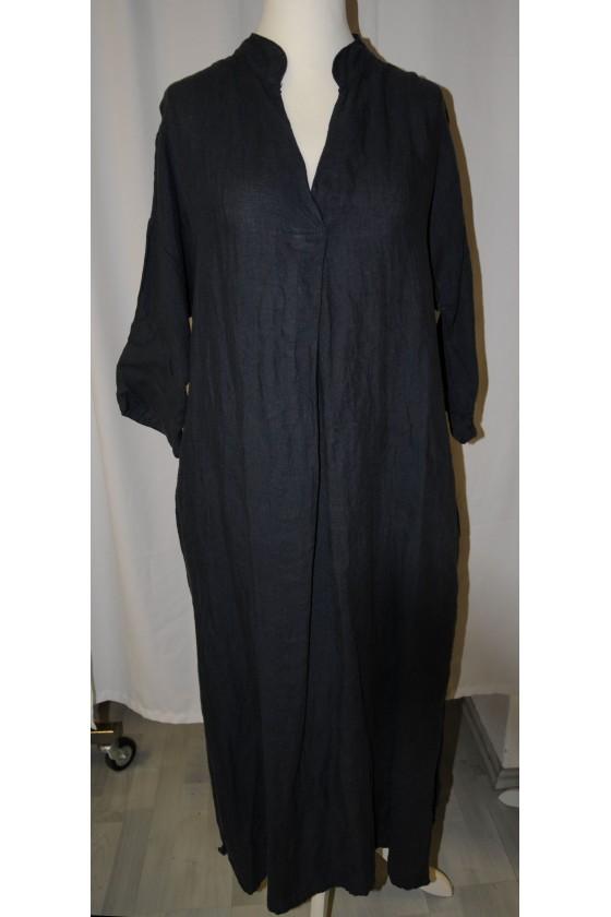 Kleid, lang, dunkelblau,...
