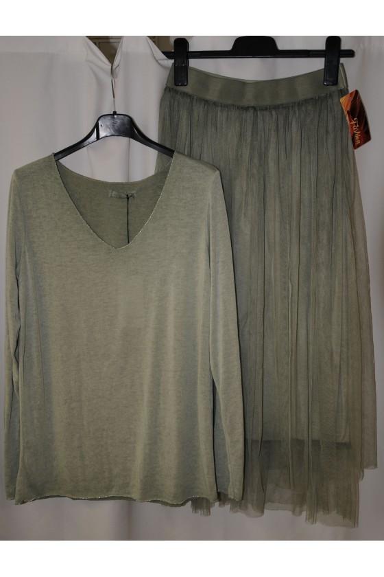 Pulli, Feinstrickpullover, salbeigrün, One Size
