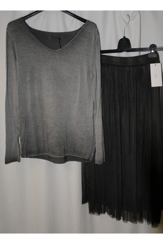 Pulli, Feinstrickpullover, grau, One Size