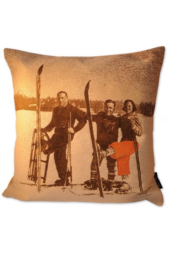 Kissen, Skifahrer antik,...