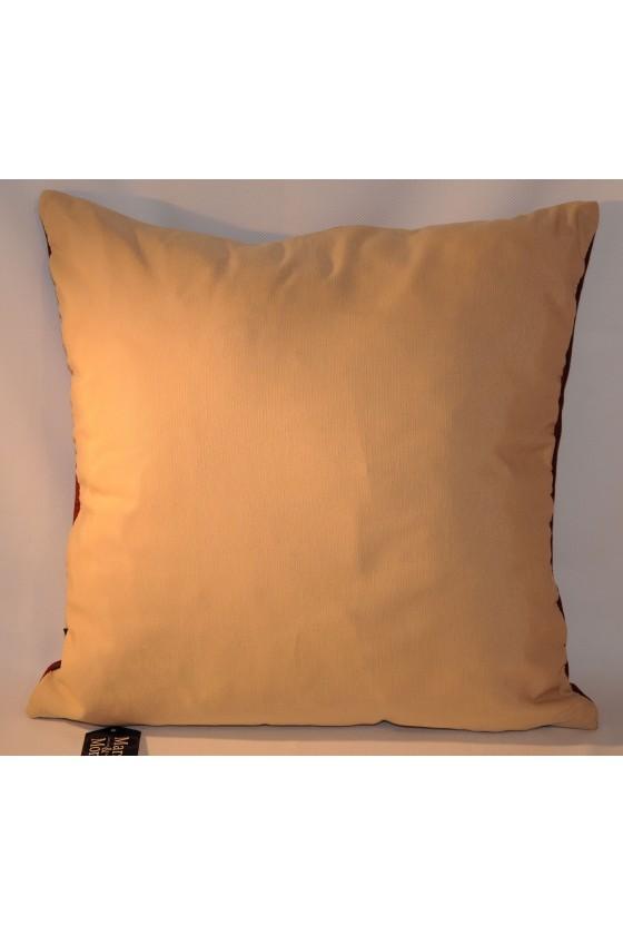 Kissen, Hirschmotiv, rot/braun, 45 x 45 cm