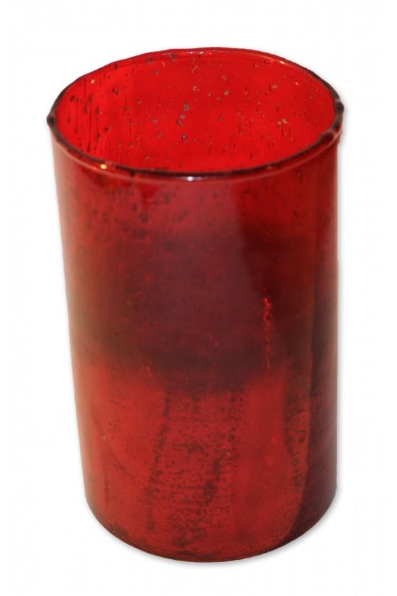 Windlicht, Vase, rot, Glas,...