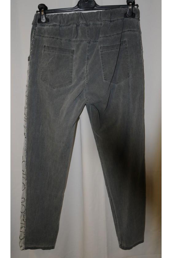 Hose, grau, mit Schlank-Effekt, One Size, Gr. 38 - 44, Stretch, grau