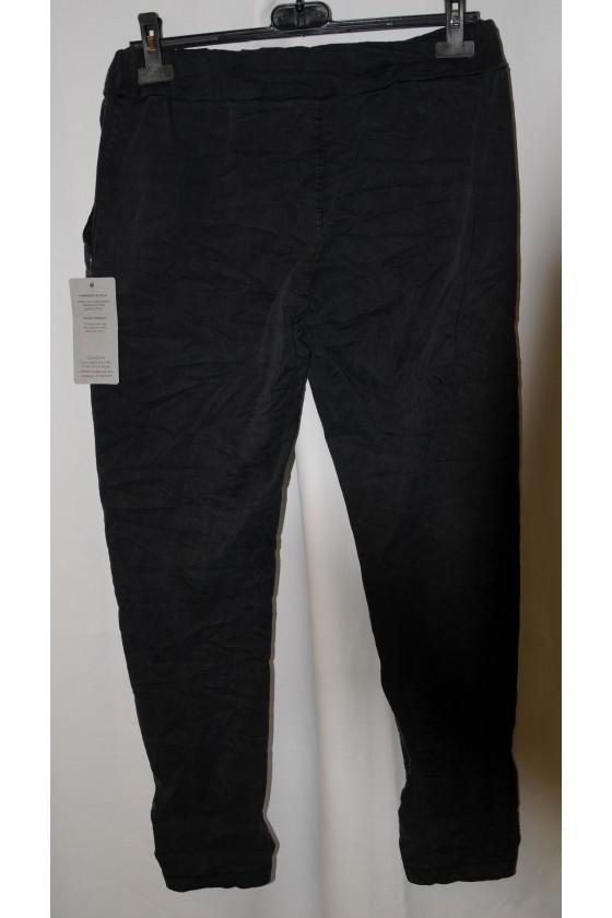 Hose, schwarz, uni, mit Schlank-Effekt, One Size, Gr. 38 - 44, Stretch