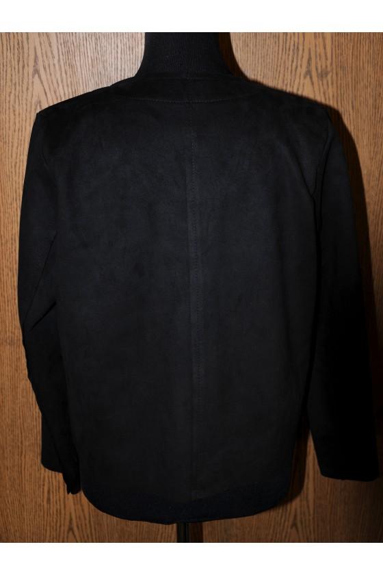 Jacke, schwarz, Kunstleder, kurz, One Size