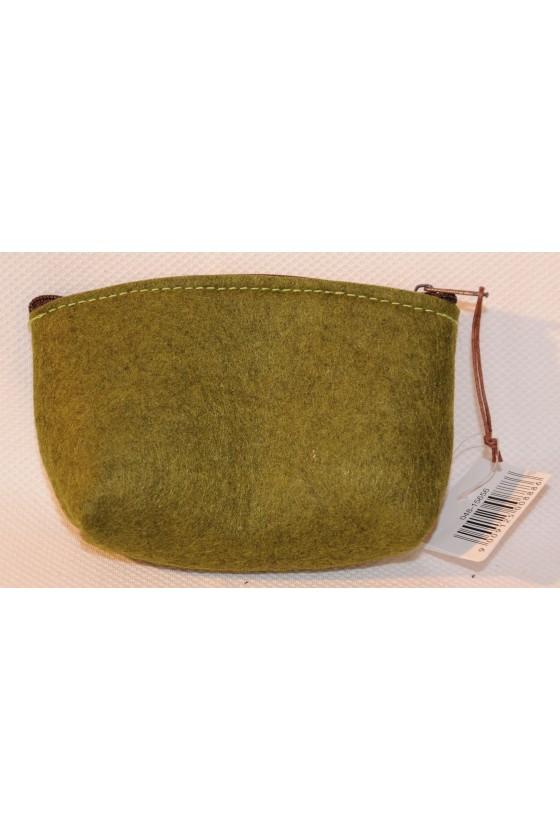 Tasche, Filztasche, Hirschmotiv aufgestickt , grün/braun