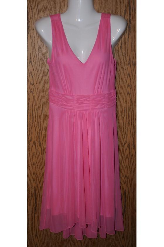 Kleid, pink uni, ärmellos,...
