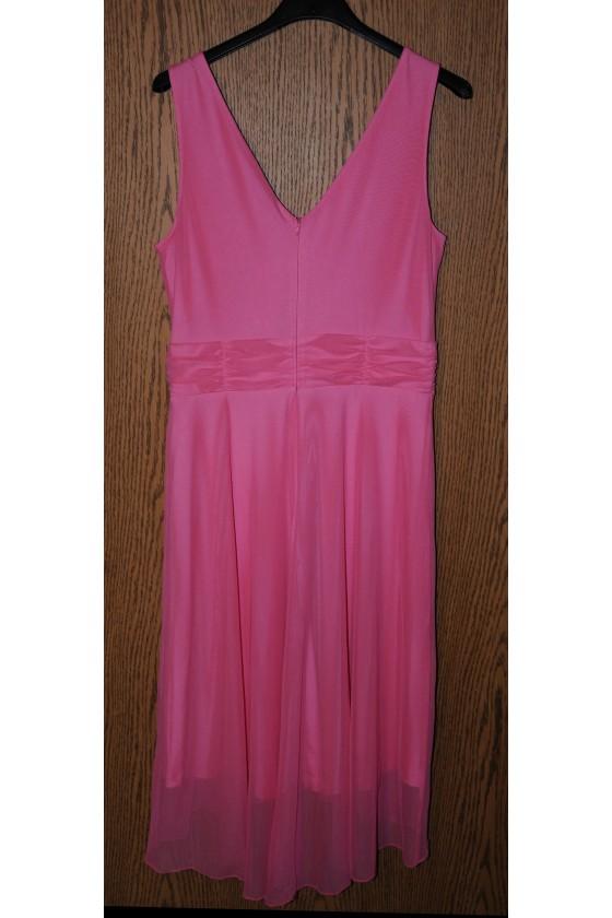 Kleid, pink uni, ärmellos, Gr. 36