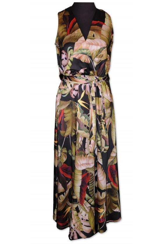 Kleid, lang, ärmellos,...
