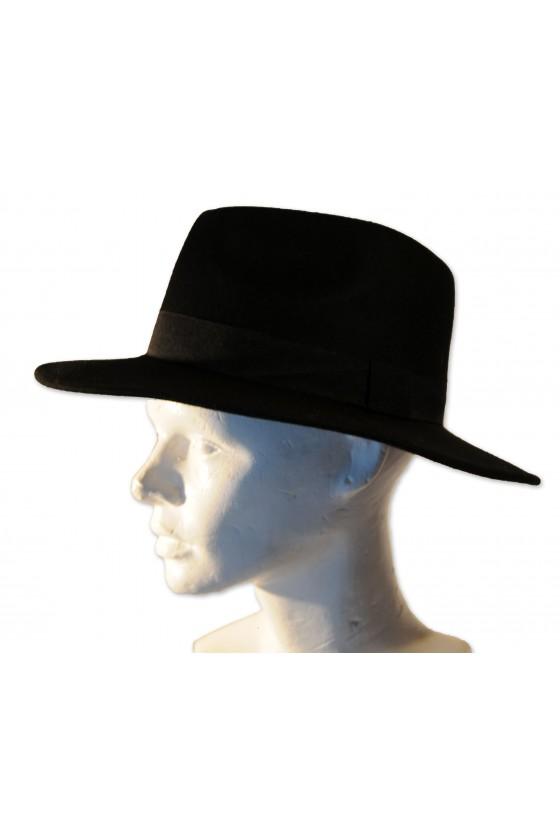 Hut, schwarz, klassisch