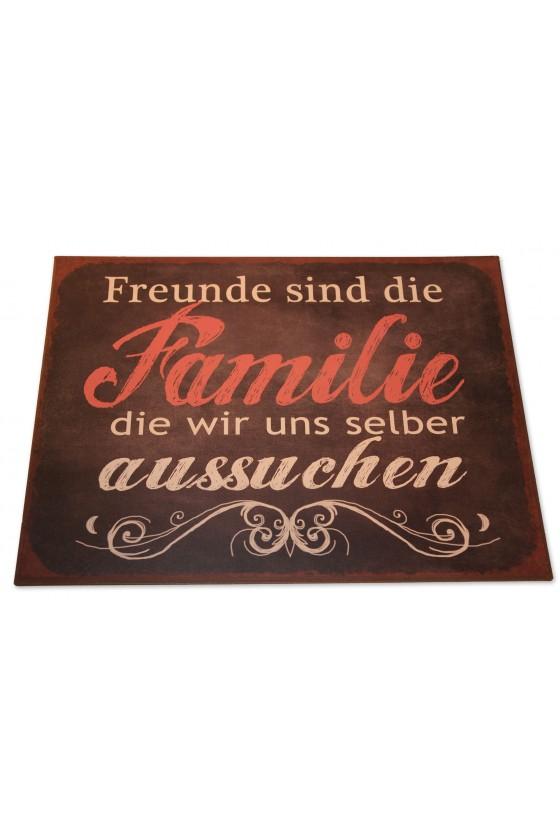 """Schild, Metall, """"Freunde..."""