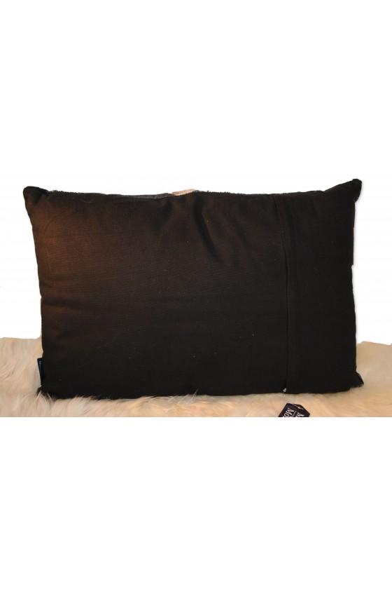 Kissen, Samt, Kälber, Multicolor grau/braun/schwarz, 40 x 60 cm