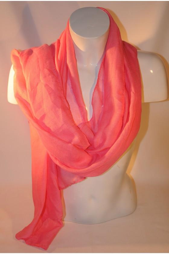 Schal, Halstuch, pink uni