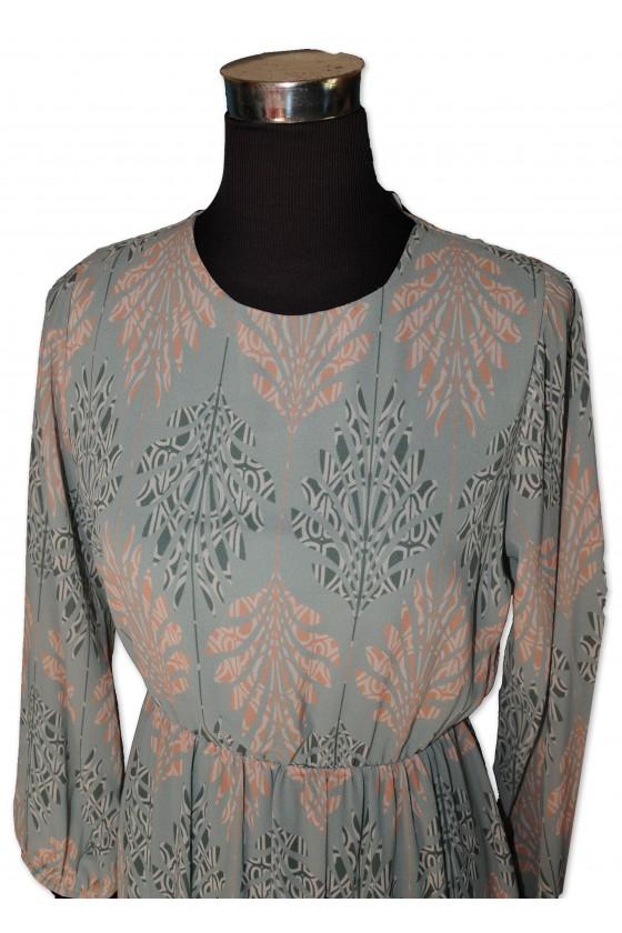 Kleid, hellblau gemustert, One Size