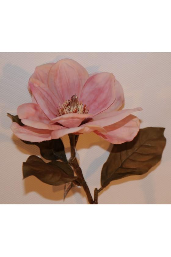 Blüte, Magnolie, rosa, Kunstblume, 66 cm
