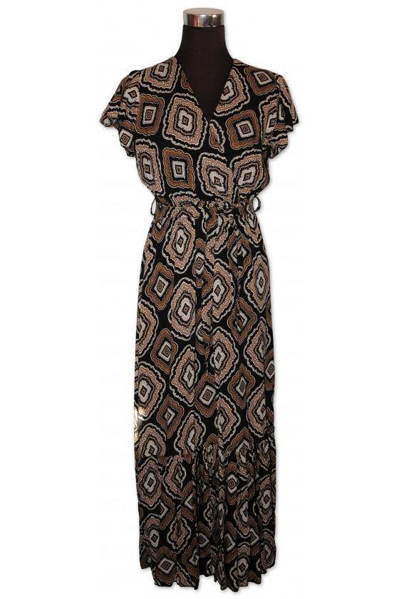 Kleid, lang, multicolor...