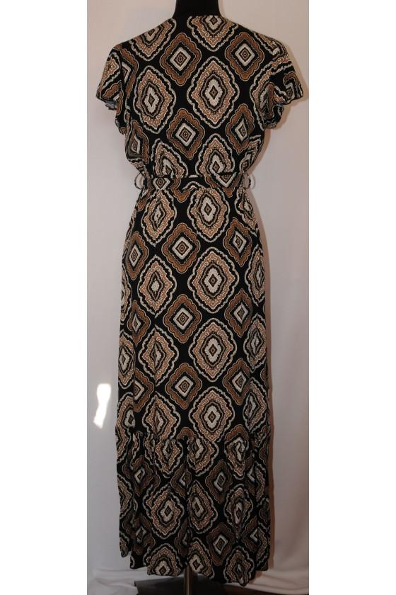 Kleid, lang, multicolor gemustert, One Size, schmaler Schnitt