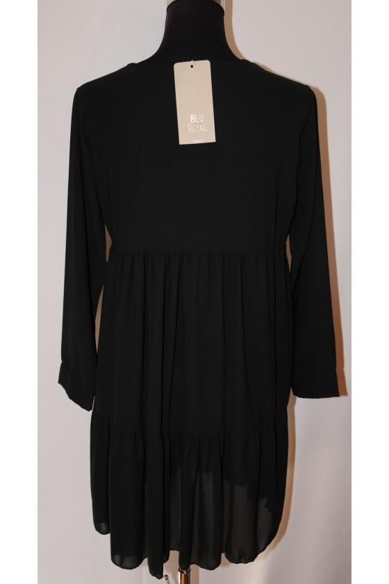 Kurzkleid, Longbluse, schwarz uni, One Size