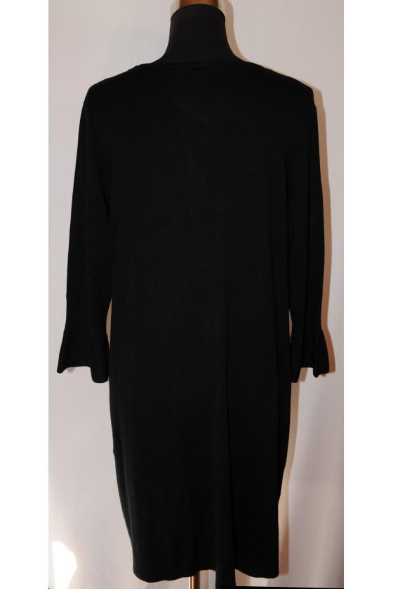 Kleid, Strickkleid, schwarz uni, Gr. XL