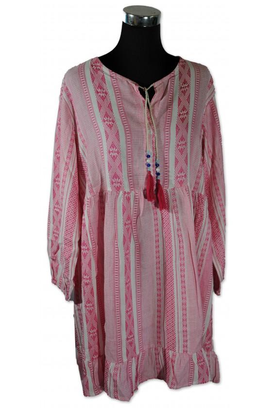 Kleid, Nala, weiß/pink...