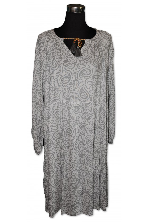Kleid, weiß/grau gemustert,...