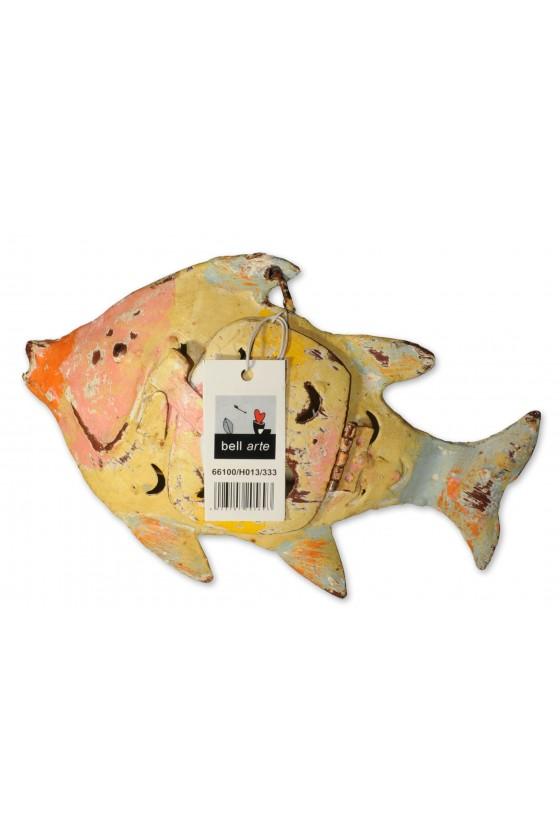 Windlicht, Fisch, Metall,...