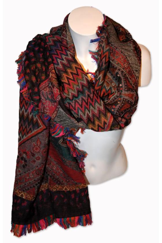 Schal, multicolor gemustert
