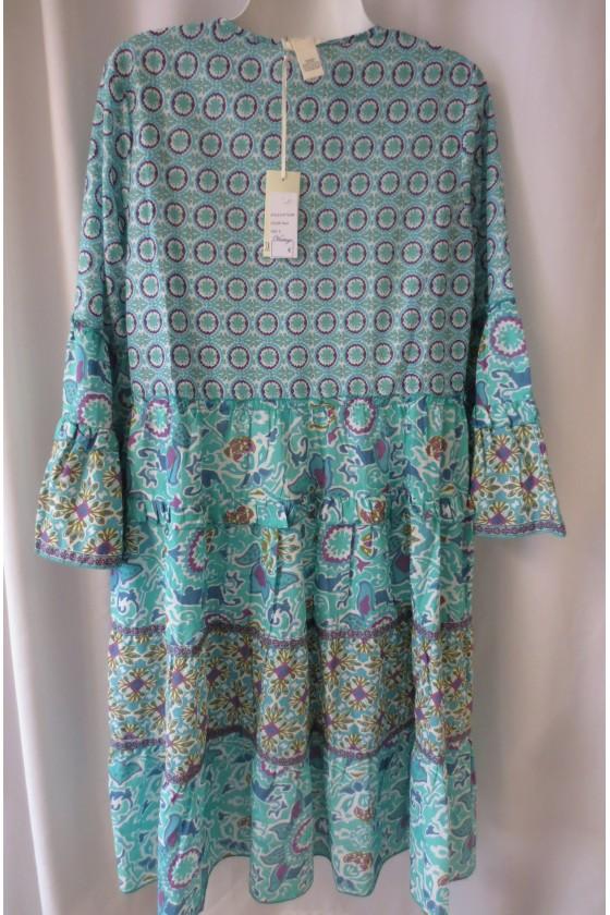 Kleid, Kurzkleid, Tunika (S), bunt gemustert